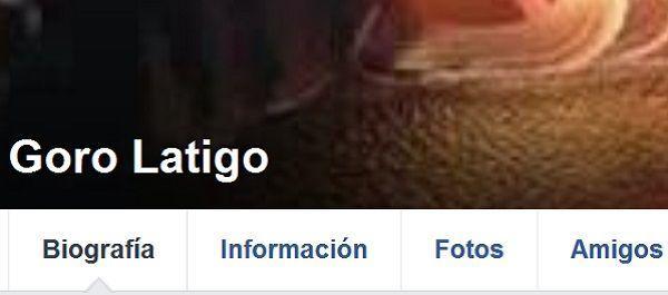 Parte del perfil del detenido en facebook