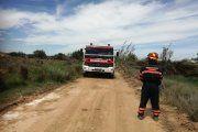 Un incendio quema una hectárea de terreno en La Puebla de Híjar