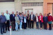 Los afectados llevan al presidente de Aragón a la zona del derrumbe