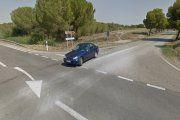 Motorista herido grave en un accidente en Alcañiz