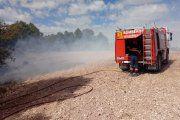 Arden diez hectáreas de masa forestal en Valderrobres