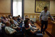 Urquizu se compromete con los afectados por el derrumbe