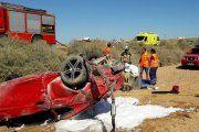 Dos heridos en un accidente de tráfico en Caspe