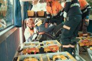 Un novedoso sistema de rescate en autobús se presenta en Alcañiz