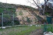 Corrimiento de tierras en la Ronda de Caspe afecta a particulares
