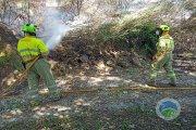 Incendio forestal en la zona de Valdecavadores de Alcañiz