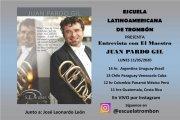 El alcañizano Juan Pardo será entrevistado por la Escuela Latinoamericana de Trombón