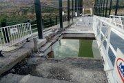 Restricciones a peatones en el puente de Sástago durante su reparación