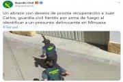 El agente herido y el Rambo, su agresor, permanecen este martes en la UCI