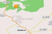 Conato de incendio forestal entre Los Olmos, Andorra y Alcorisa