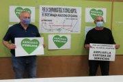 Detalles de la movilización por una sanidad de calidad y el nuevo hospital de Alcañiz