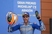 Alex Rins triunfa en Alcañiz