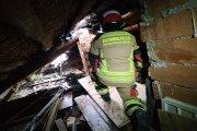 Incendio en una casa habitada de Calaceite