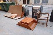 Dos actas de denuncia en Alcañiz frente a las numerosas basuras en la calle