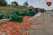 Accidente de camión en Caspe