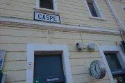 La huelga de maquinistas afecta a Caspe
