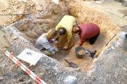 Alcañiz. Hallados restos humanos en una fosa común